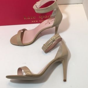 Kate Spade Pawder Patent Leather Heels Sandals 8.5